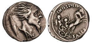 Picture of Vercingetorix coin—Saserna 48 BC. Copied from http://wildwinds.com/coins/sear5/s0418.html