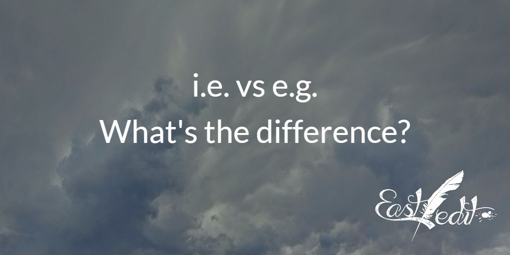 The difference between i.e. and e.g.