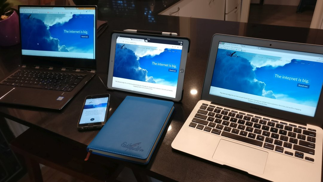 Devices showing East Edit website